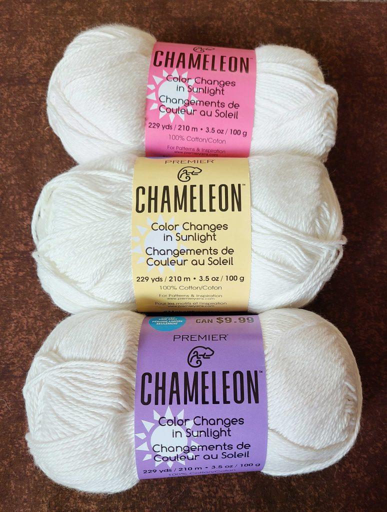 a photo of three balls of yarn